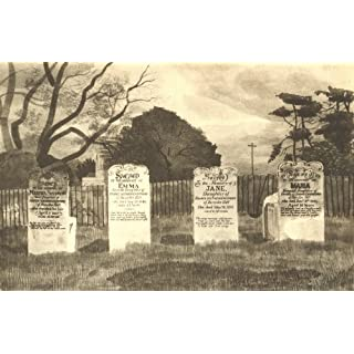 BARNSTON. The Livermore Tombs. Essex. By Kenneth Rowntree - 1947 - old antique vintage print - art picture prints of Essex