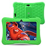 Dragon Touch Y88X Plus Kids Tablet 7 inch Quad Core Android PC Tablet Android 5.1 Lollipop IPS Screen 1G RAM 8G ROM Wifi Bluetooth Camera Games Unlocked Version of Kidoz & Google Play Pre-Installed (With Green Silicone Adjustable Stand Case)