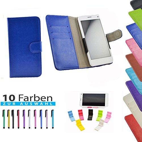 5 in 1 set Slide Tasche Hülle Case Cover Schutz Cover Etui Blau für Haier Phone L52