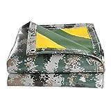 Bâche Camouflage Imperméable | Couverture De Remorque De Tente De Sol | Grande, Plusieurs Tailles (450g / M²) (Taille : 5x10m)...