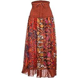 Falda maxi o vestido patchwork con cinturilla elástica a8614162d085