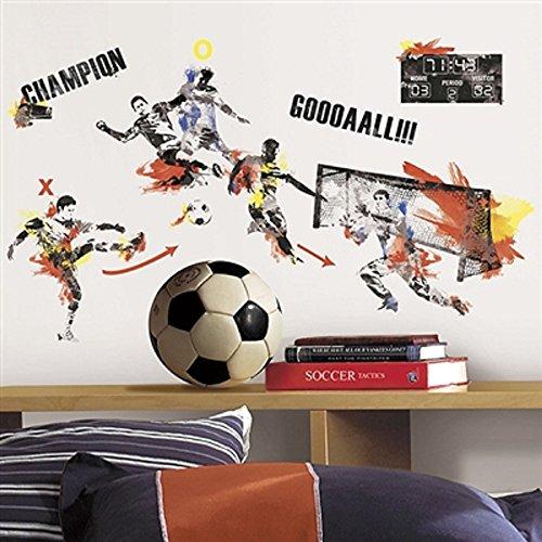 Hochwertiger Wandtattoo Tattoo Wand Tattoo Fussball künstlerisch mit außergewöhnlichem Design macht die Wand zu einen echten Blickfang