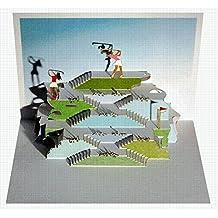 Pop Up 3D Karte Frauen Golf Grusskarte Geburtstag Gutschein Golfurlaub 16x11cm