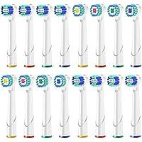 RecambiosCepilloOralBCabezales cepilloelétrico diente profesionalCabezalesdeCepilloOralBCompatibleyLimpiezaeficiente-Paquetede16