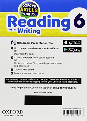 Oxford Skills World: Reading & Writing 6. Classroom Presentation Tool Access Card