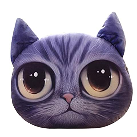 Zjene Cute Cartoon Creative Simulation 3d Owl Coussins Chat Taie d'oreiller, C, 37 * 30cm