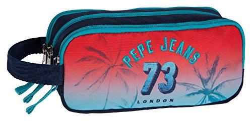Pepe Jeans Dario Neceser de Viaje, 1.98 litros, Color Rojo