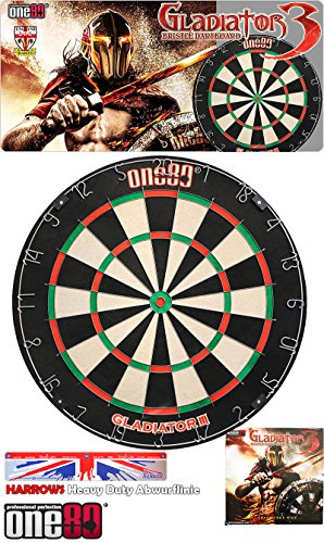 One80 Gladiator 3 Dartboard - Dartscheibe + Harrows Abwurflinie