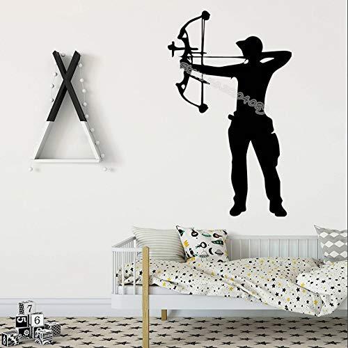 Armbrust Bogenschütze Bogenschießen Wandaufkleber Bogenschießen Boy Home Decor Für Kinder Baby Room selbstklebende Vinyl Kunst Decals tapete 56X92CM