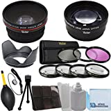 Vivitar 72mm 0.43x Wide Angle Lens + 2.2x Telephoto Lens + 3 Pieces Filter Set + 4Pc Close Up Lens + Lens Hood With Deluxe Lens Accessories Kit For Tamron Telephoto SP AF 180mm F/3.5 Di LD IF Macro Autofocus Lens And More Models + ECost Microfiber Cleanin