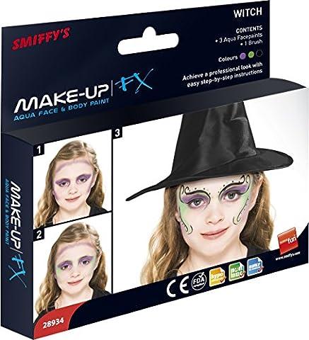 SMIFFY 'S Make-up FX Aqua Hexe Kit in drei Farben