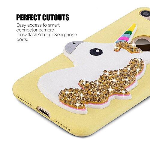 Coque iPhone 7 (4.7 pouce) , TPU couleur unie Case Silicone Slim Souple Étui de Protection Flexible Soft Cover Anti Choc Ultra Mince Integrale Couverture Bumper Caoutchouc Gel Anfire Housse pour iPhon Jaune