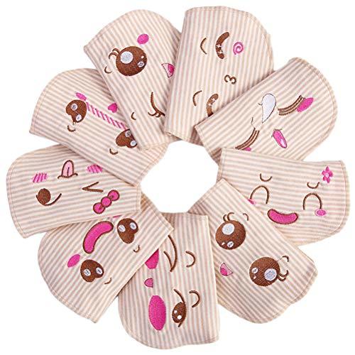 YEAHIBABY 3 stücke Baumwolle Baby Schweiß Saugfähigen Handtuch Schweiß Wicking Pads Infant Handtuch (Zufällige Muster)