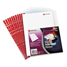 Rexel Nyrex A4 Foolscap Plastic Punched Wallets Side Opening, Pack of 25