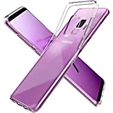 Spigen Coque Galaxy S9 Silicone, Galaxy S9 Coque [Liquid Crystal] Ultra Fine TPU Silicone/Transparent/Adhérence Parfaite/Anti-Trace Souple Coque - [Crystal Clear]