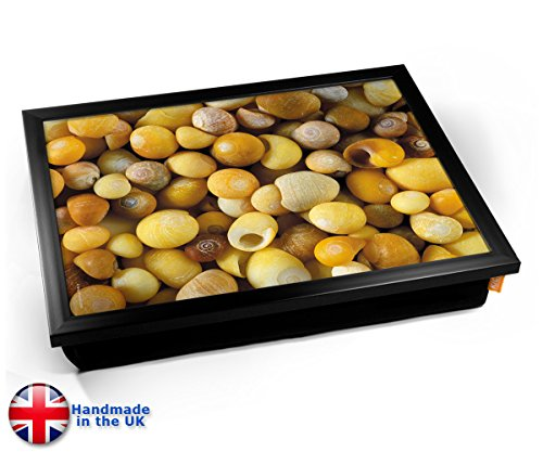 Shells Cushion Lap Tray Kissen Tablett Knietablett Kissentablett - Schwarzer Rahmen (Notebook-lap Tray)