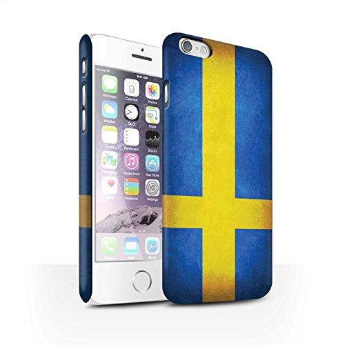 Clipser Matte Coque de Stuff4 / Coque pour Apple iPhone 5/5S / Chili/Chiliean Design / Drapeau Collection Suède/suèdois