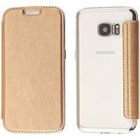 Funda Samsung Galaxy S6, Coodio Samsung Galaxy S6 Funda Cuero Billetera, Carcasa en libro, Ranura para Tarjeta Slim Silicona Case Cover Para Samsung Galaxy S6 - Oro