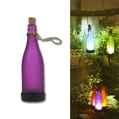 Solar Flaschenleuchte lila Gartenlaterne Solarleuchte LED Lampe Gartenlampe Solarlampe Gartenparty von No Name bei Lampenhans.de