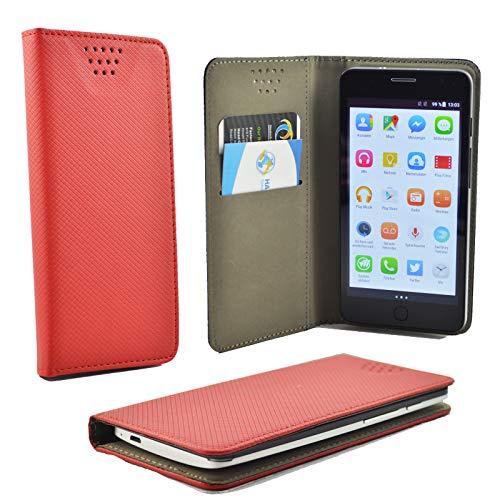 ikracase für TP-Link Neffos Y5s Smartphone Handyhülle Schutzhülle Hülle Slide Kleber Case Cover Schutz Handy Tasche Cover Etui Schale - Rot