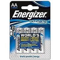 Energizer Batteria stilo a litio Ultimate Lithium, AA, 1.5V, 3000mAh, 4 pezzi