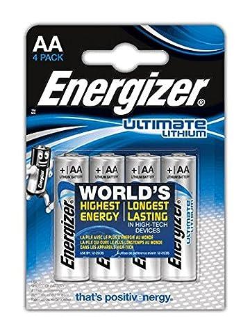 Energizer 4 piles AA FR6 639155