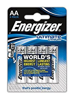 Energizer Ultimate Lithium - Pilas AA, pack de 4 by collectif (B000IWW1G6) | Amazon price tracker / tracking, Amazon price history charts, Amazon price watches, Amazon price drop alerts