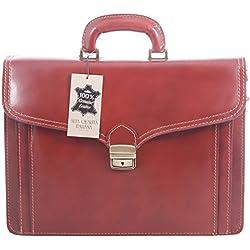 El hombre del bolso del organizador por Italian Job, 100% cuero auténtico Made in Italy