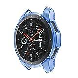 Geilisungren Funda Completa para Huami Samsung Galaxy Watch 46mm Watch Protección Suave de TPU de Silicona Smartwatch Protector (Azul,Tamaño Libre)