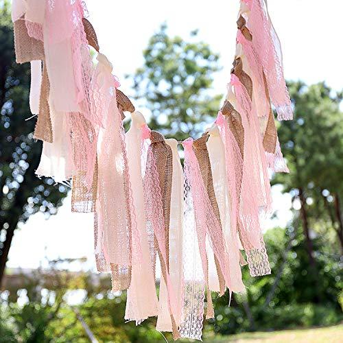 inen Lace Bunner - Rustikale Banner Für Heimtextilien, Hochzeit, Baby Shower, Party Supplies - 160Cm ()