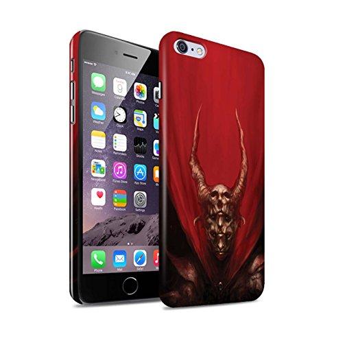 Offiziell Chris Cold Hülle / Glanz Snap-On Case für Apple iPhone 6S+/Plus / Pack 10pcs Muster / Dunkle Kunst Dämon Kollektion Rot Herzog
