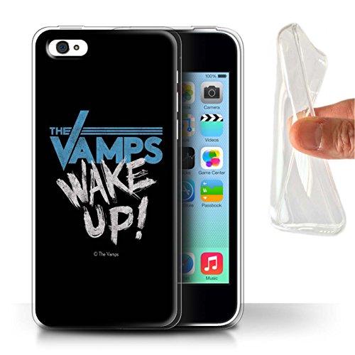 Offiziell The Vamps Hülle / Gel TPU Case für Apple iPhone 5C / Pack 6pcs Muster / The Vamps Graffiti Band Logo Kollektion Aufwachen!