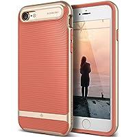 Caseology - Serie Wavelength - Funda para iPhone 8, iPhone 7, Delgada, Doble Capa con Protección de Buena Calidad, Sujeción Táctil 3D - Rosado