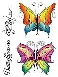 Clear Stamp-Set Motiv-Stempel-Gummi - Karten-Kunst Schnörkel-Schmetterlinge