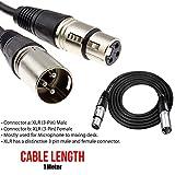 BisLinks® Mikrofon Mic Lead 3 Pin Male to Female Plugs XLR Patch Audio Kabel Extension Wire for Amplifiers Mikrofons Mixer Speaker Patch - 1M Größ - Schwarz