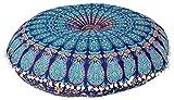 Future Handmade Kissenbezug, rund, indisches Mandala, 81,3cm, 100 % Baumwolle, multi, Design 1