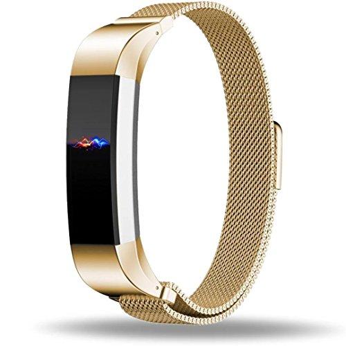 Fitbit Inc (Fitbit Alta Armband Ersatz, ZRO Voll Magnetisch Verschluss Spange Mesh-Schleife Milanese Rostfreier Stahl Armband für Fitbit Alta Smart Uhr)
