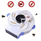 Zikken Solar Electric Rotary Fly Catcher Solar Charging Mosquito Killer & Fly Killer, High Efficiency Automatic Flytrap, Silent Electric Rotary Flycatcher for Family, Hotel, Restaurant, Canteen, Etc