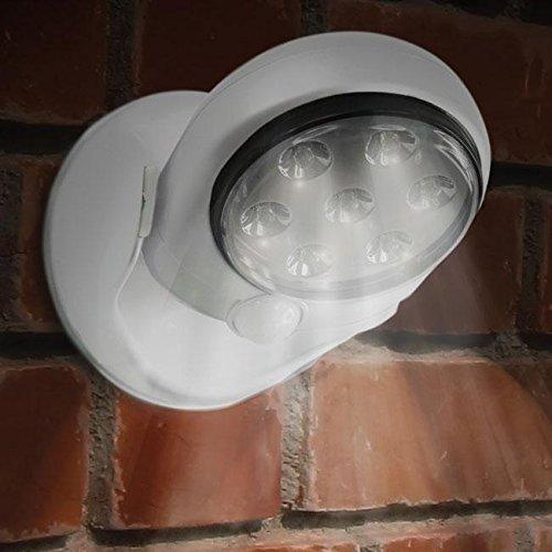 360 ° Infrarot-Bewegungsmelder aktiviert Sensor LED-Leuchten Auto-Sensing-Pfad Akku-Lampe