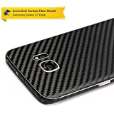 ikazen 3D Black Carbon Fiber Back Body Film Sticker Wrap Skin For Samsung Galaxy S7 Edge - Black
