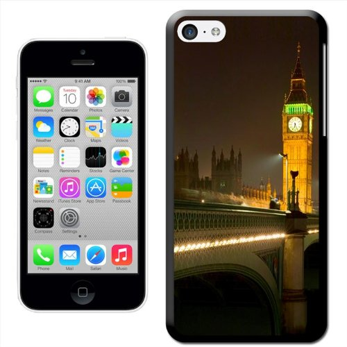 Fancy A Snuggle 'Double Decker Red Bus Big ben' Hard Case Clip On Back Cover für Apple iPhone 5 C Big Ben Lit Up Bright At Night