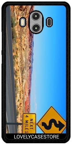 Lovelycasestore Hülle für Huawei Mate 10 - Straße USA USA Drehen Vereinigte Staaten Wüste Arid Sun Sky Blue