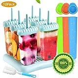 Specool 6 Eisformen Popsicle Formen EIS am Stiel BPA Frei Set,3 Stück...