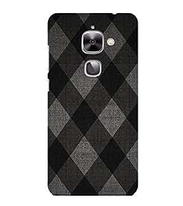 HiFi Designer Phone Back Case Cover Letv 2 :: LeEco Le 2s :: LeEco Le 2 Pro :: LeTV 2 Pro :: LeEco Le 2 ( Black Pattern Design )