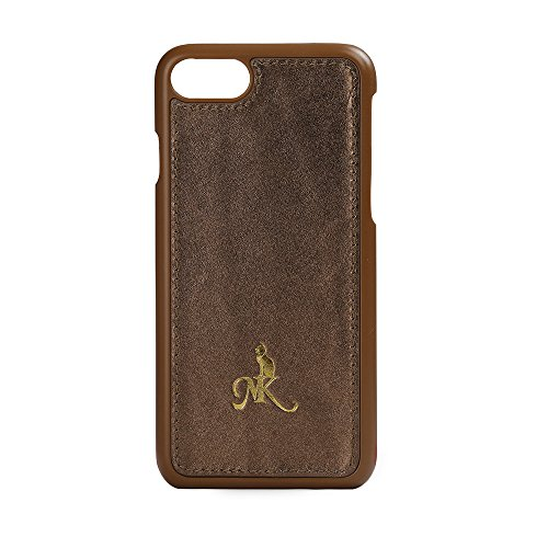 Miss Kitty elegante iPhone 7 Hülle Case Ledertasche Backcover metallic bronze aus echtem Leder. Dünnes Hardcase als edles Accessoire für das apple iPhone
