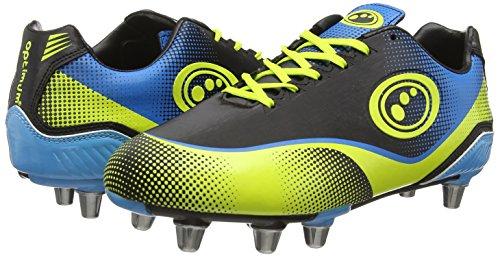 Optimum Atomik, Rugby Homme Noir (Blue/Yellow)