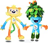 niceEshop(TM) 2016 Brazil Rio De Janeiro Olympic & Paralympic Plush Mascot Tom & Vinicius, 2pcs