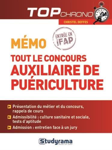 Mémo tout le concours auxiliaire de puériculture - entrée en IFAP