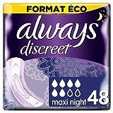 Always Discreet Damen Slipeinlage Maxi Night bei Blasenschwäche und Inkontinenz, 12Stück