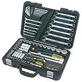 Proteco-Werkzeug® Profi-Steckschlüsselsatz Steckschlüsselkasten 1 4 und 1 2 Zoll 102